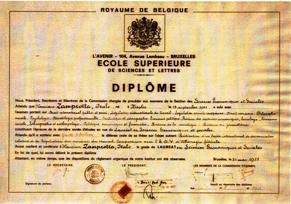 diploma brussels