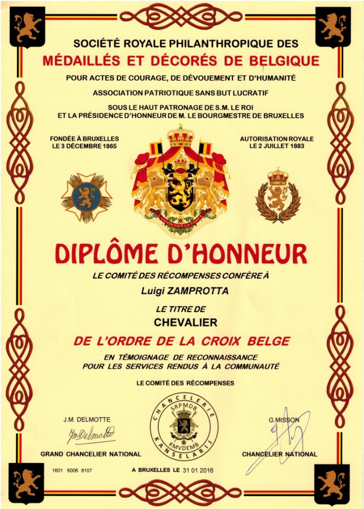 Diplome Chevalier