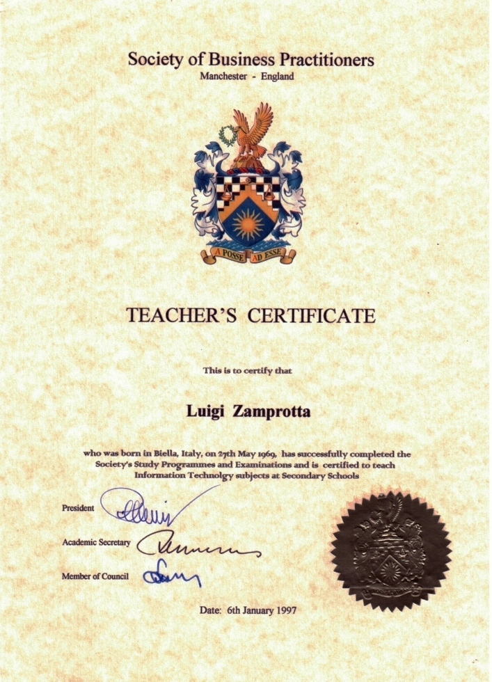 Teacher'sCertificate